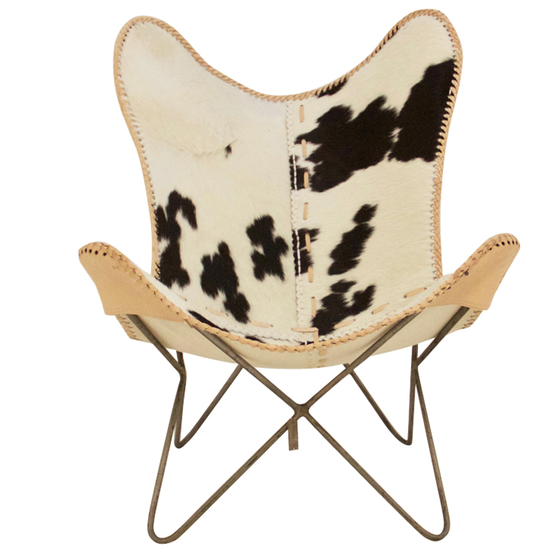 butterfly chair black white fur pole to pole
