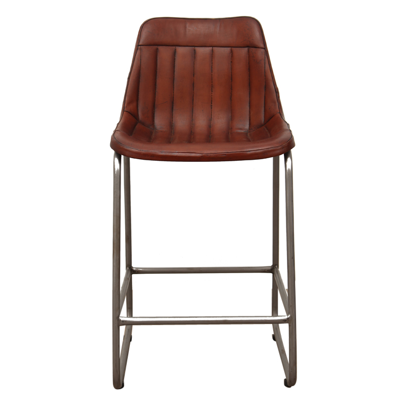 Kitchen Breakfast Bar Pole: Aviator Kitchen Bar Chair Brown