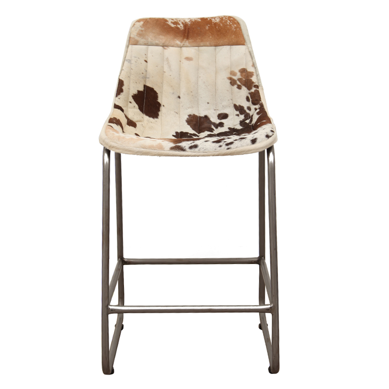 Kitchen Breakfast Bar Pole: Aviator Kitchen Bar Chair Brown & White Fur