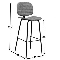 Oyster bar chair dimensions