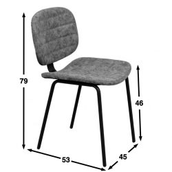 Oyster chair dimensions