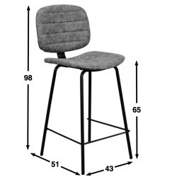 Oyster kitchen bar chair dimensions